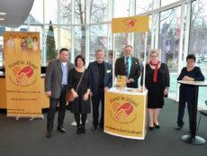 Der Förderverein auf dem Neujahrsempfang 2018 der Stadt Bamberg.