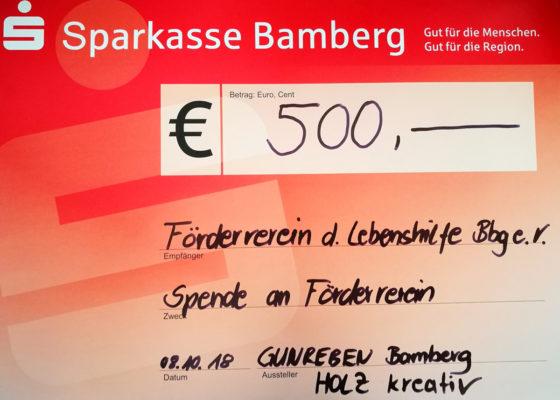 Spende von der Firma Georg Gunreben GmbH&CO.KG
