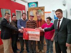 Spendenübergabe - Rotary Club Bamberg, Ostereier-Aktion