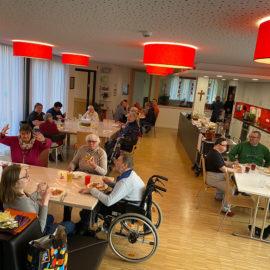 Pizzaabend im Kurt Straßberger Wohnheim in Memmelsdorf